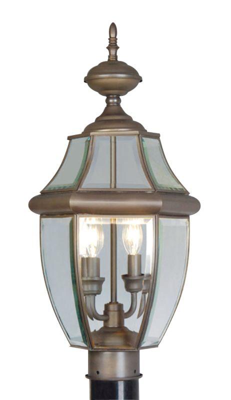 Livex Lighting 2254 Monterey 2 Light Outdoor Post Light Bronze Outdoor