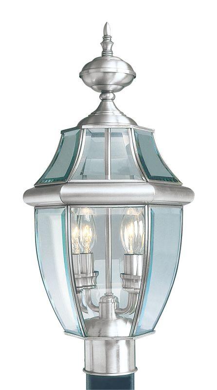 Livex Lighting 2254 Monterey 2 Light Outdoor Post Light Brushed Nickel