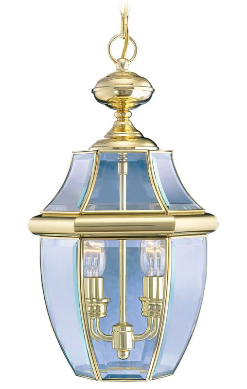 Livex Lighting 2255 Monterey 2 Light Outdoor Pendant Polished Brass Sale $169.90 ITEM: bci1033639 ID#:2255-02 :