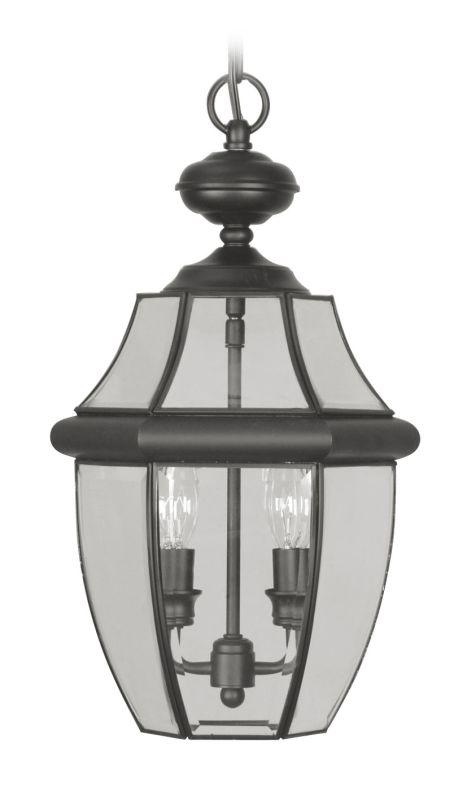 Livex Lighting 2255 Monterey 2 Light Outdoor Pendant Black Outdoor