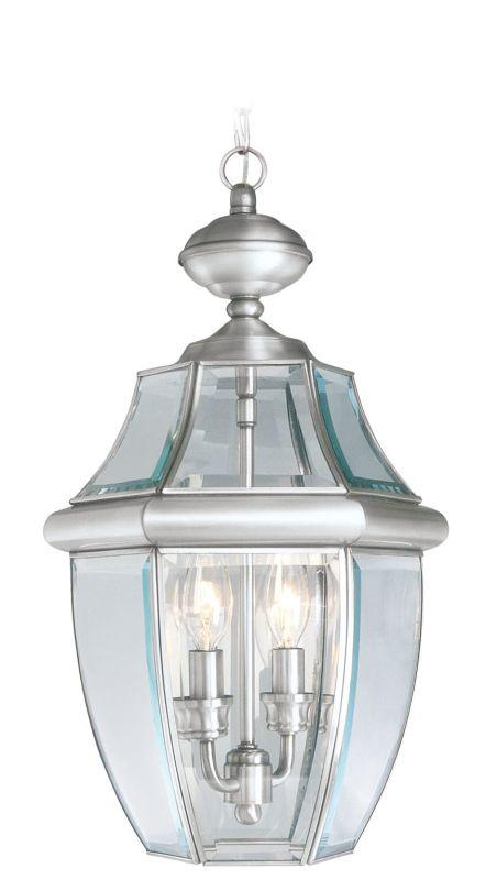 Livex Lighting 2255 Monterey 2 Light Outdoor Pendant Brushed Nickel Sale $169.90 ITEM: bci1033644 ID#:2255-91 :