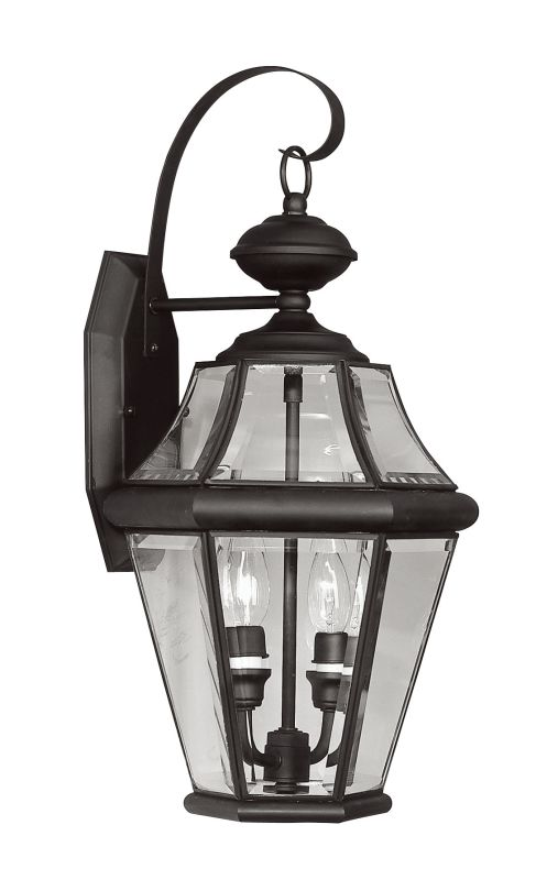 Livex Lighting 2261 Georgetown 2 Light Outdoor Wall Sconce Black