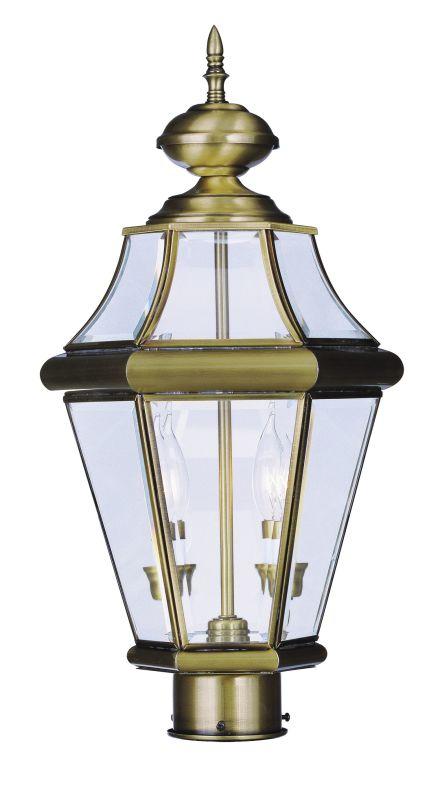 Livex Lighting 2264 Georgetown 2 Light Outdoor Post Light Antique