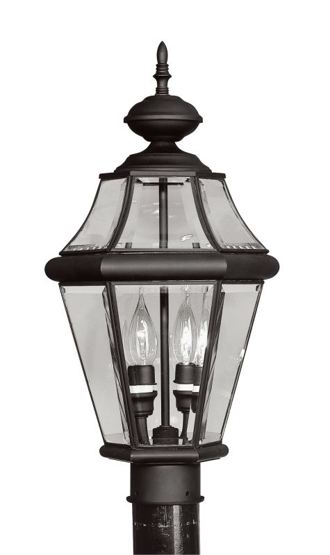 Livex Lighting 2264 Georgetown 2 Light Outdoor Post Light Black