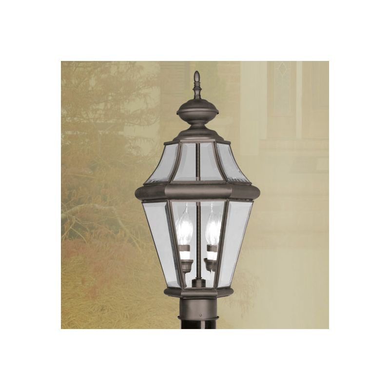 Livex Lighting 2264 Georgetown 2 Light Outdoor Post Light Bronze