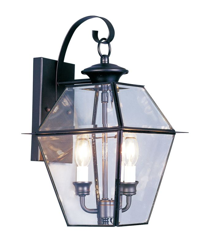 Livex Lighting 2281 Westover 2 Light Outdoor Wall Sconce Black Outdoor Sale $179.90 ITEM: bci1033654 ID#:2281-04 UPC: 847284000827 :