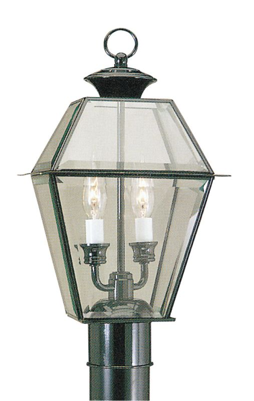 Livex Lighting 2284 Westover 2 Light Outdoor Post Light Black Outdoor