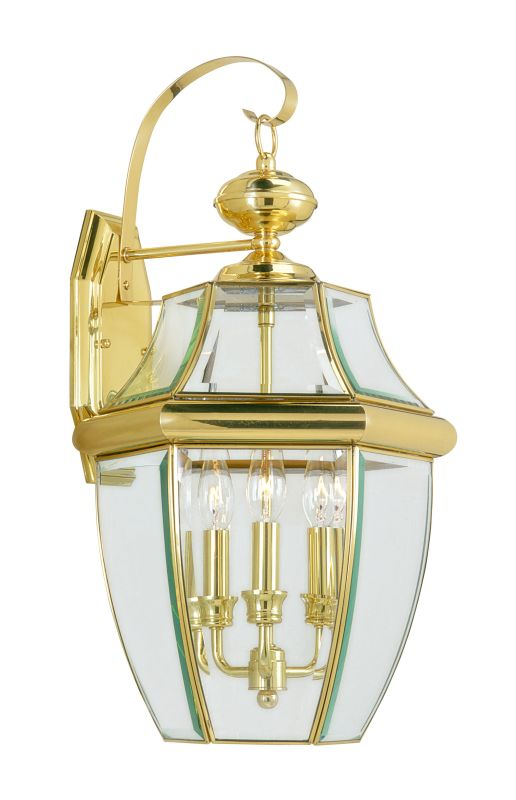 Livex Lighting 2351 Monterey 3 Light Outdoor Wall Sconce Polished Sale $189.90 ITEM: bci1033664 ID#:2351-02 :