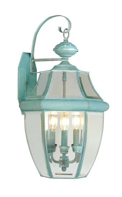 Livex Lighting 2351 Monterey 3 Light Outdoor Wall Sconce Verdigris