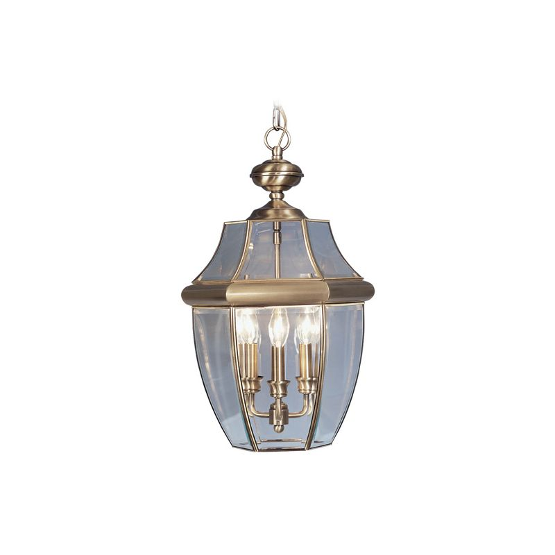 Livex Lighting 2355 Monterey 3 Light Outdoor Pendant Antique Brass Sale $219.90 ITEM: bci1033680 ID#:2355-01 UPC: 847284009776 :