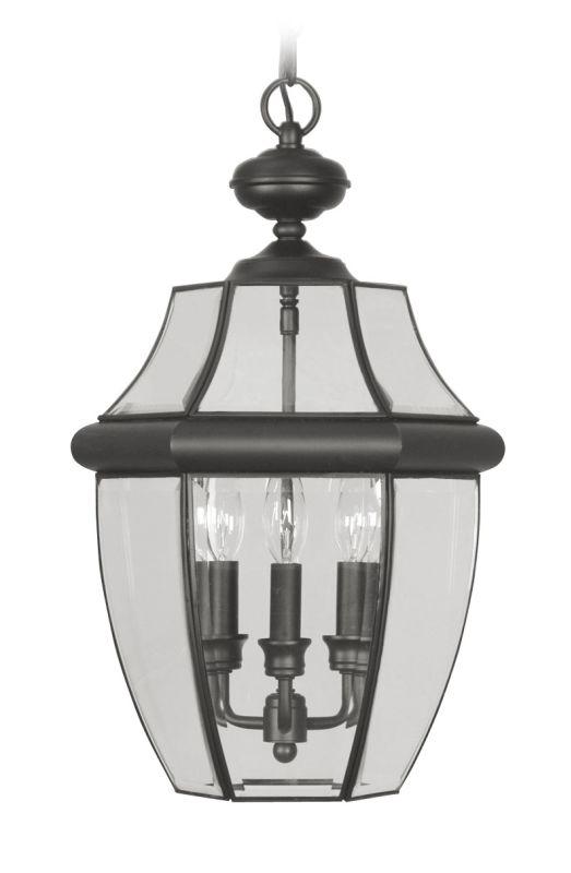 Livex Lighting 2355 Monterey 3 Light Outdoor Pendant Black Outdoor