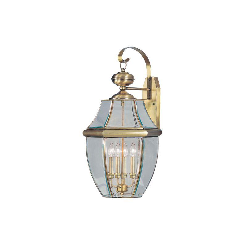 Livex Lighting 2356 Monterey 4 Light Outdoor Wall Sconce Antique Brass