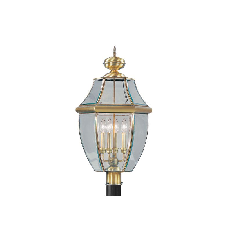 Livex Lighting 2358 Monterey 4 Light Outdoor Post Light Antique Brass Sale $419.90 ITEM: bci1033694 ID#:2358-01 :