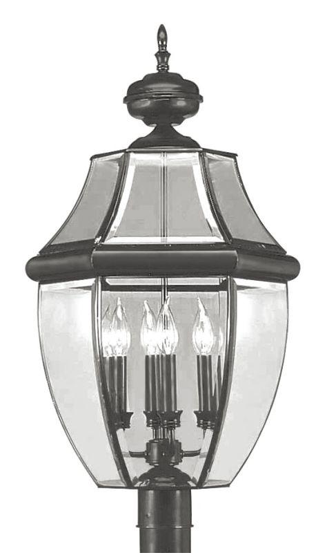 Livex Lighting 2358 Monterey 4 Light Outdoor Post Light Black Outdoor
