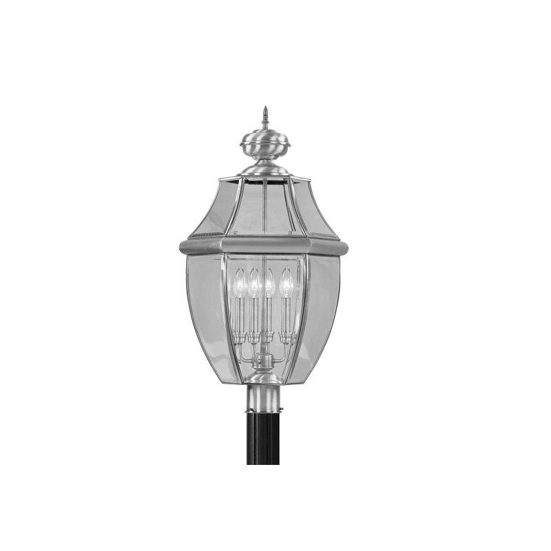 Livex Lighting 2358 Monterey 4 Light Outdoor Post Light Brushed Nickel