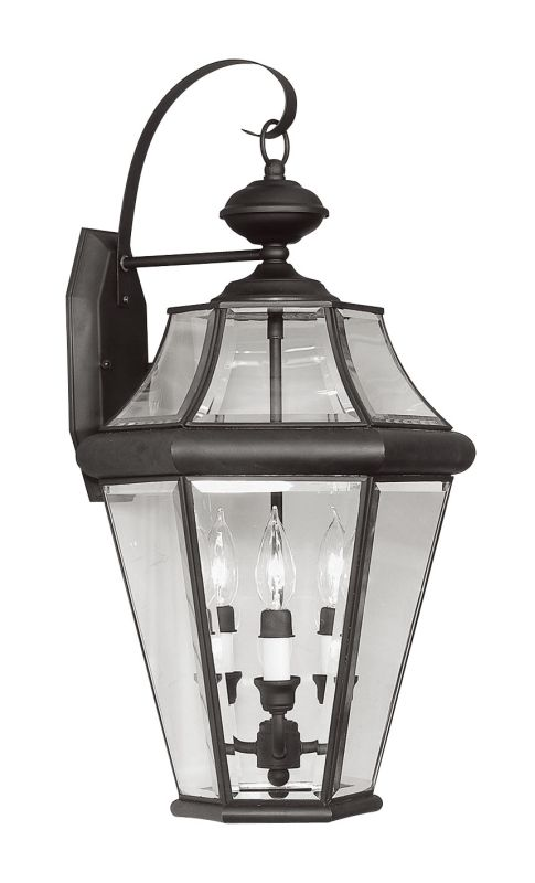 Livex Lighting 2361 Georgetown 3 Light Outdoor Wall Sconce Black