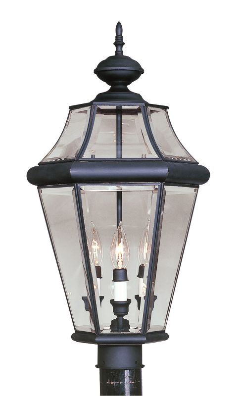 Livex Lighting 2364 Georgetown 3 Light Outdoor Post Light Black Sale $299.90 ITEM: bci1033703 ID#:2364-04 UPC: 847284010048 :