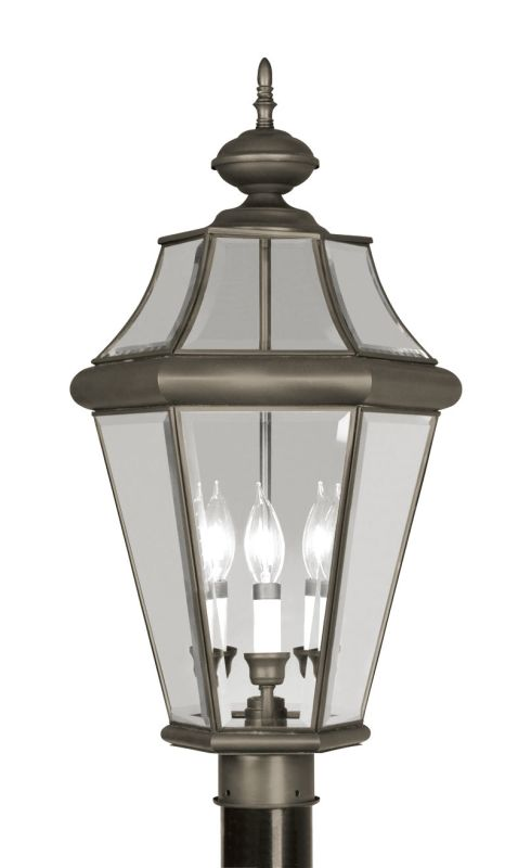 Livex Lighting 2364 Georgetown 3 Light Outdoor Post Light Bronze