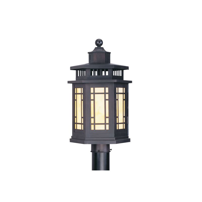 Livex Lighting 2394 Mirror Lake 1 Light Outdoor Post Light Bronze