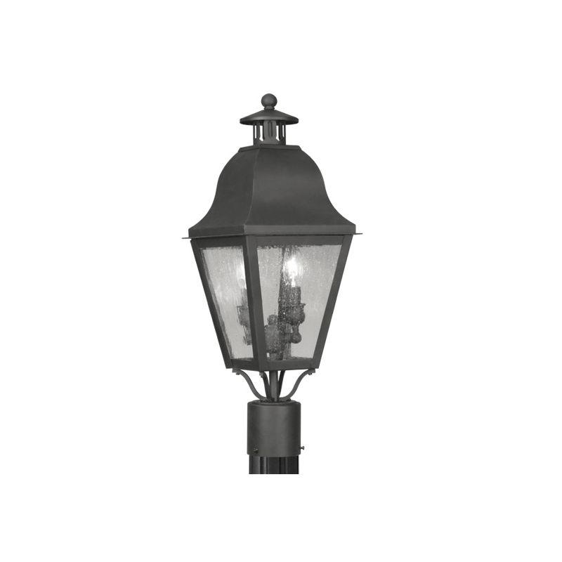 Livex Lighting 2552 Amwell Post Light with 2 Lights Black Outdoor