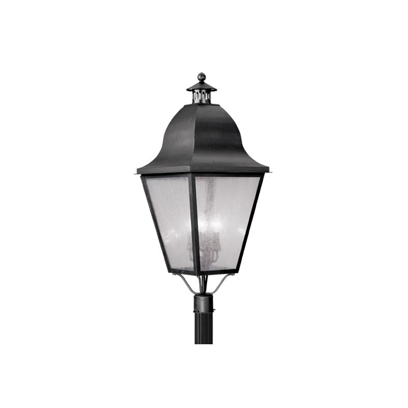 Livex Lighting 2554 Amwell 4 Light Outdoor Post Light Black Outdoor