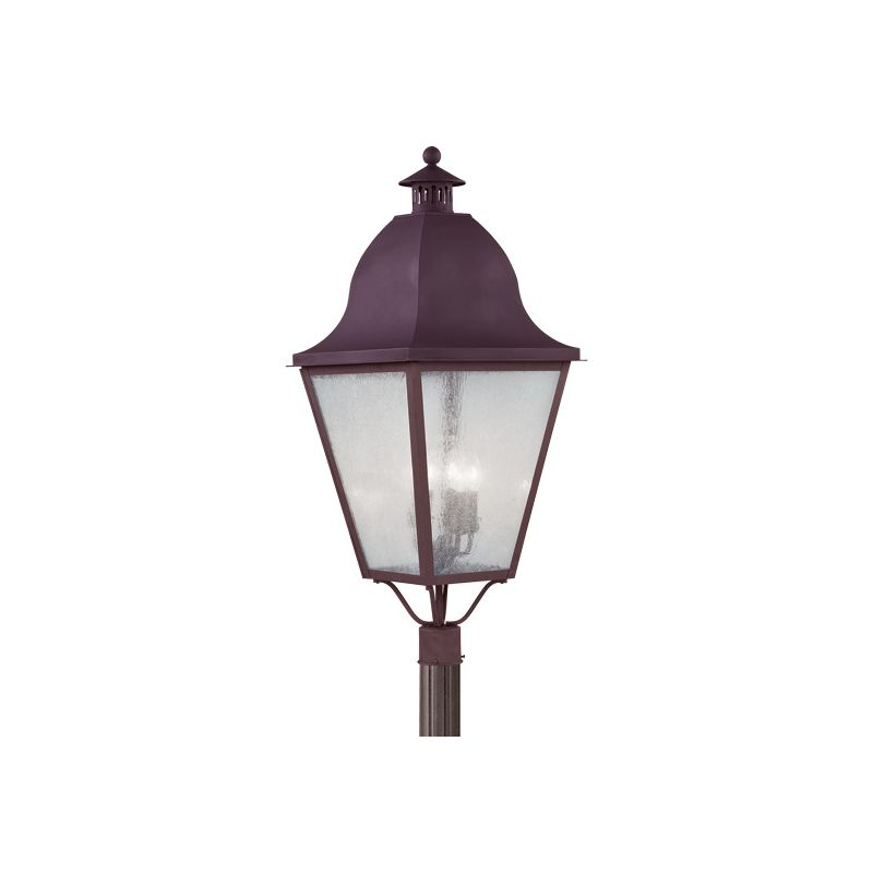 Livex Lighting 2554 Amwell 4 Light Outdoor Post Light Bronze Outdoor