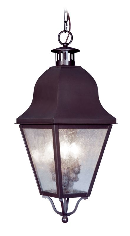 Livex Lighting 2557 Amwell Outdoor Pendant with 3 Lights Bronze