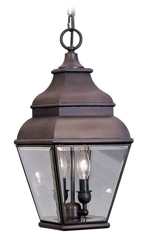 Livex Lighting 2595 Exeter 2 Light Outdoor Pendant Bronze Outdoor