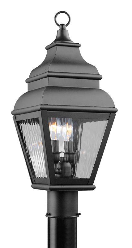 Livex Lighting 2603 Exeter Post Light with 2 Lights Black Outdoor