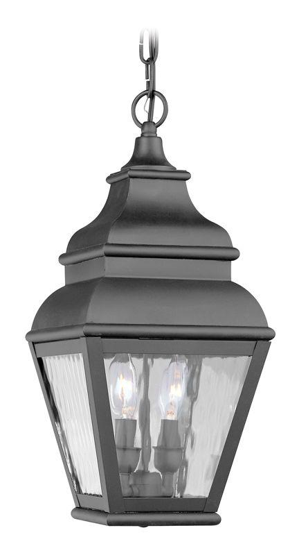Livex Lighting 2604 Exeter Outdoor Pendant with 2 Lights Black Outdoor