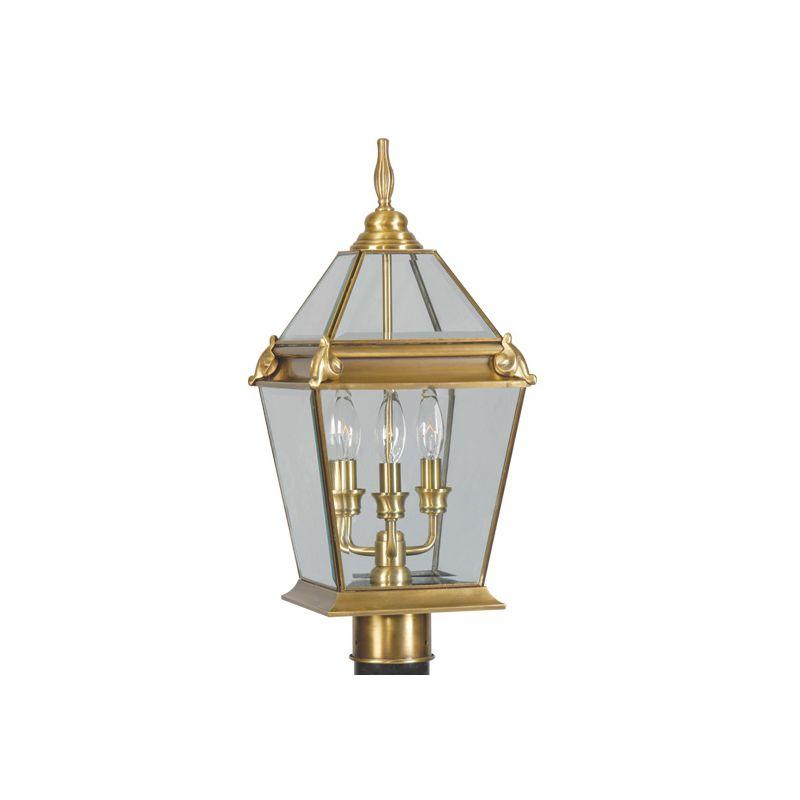 Livex Lighting 2616 Fleur de Lis 3 Light Outdoor Post Light Flemish