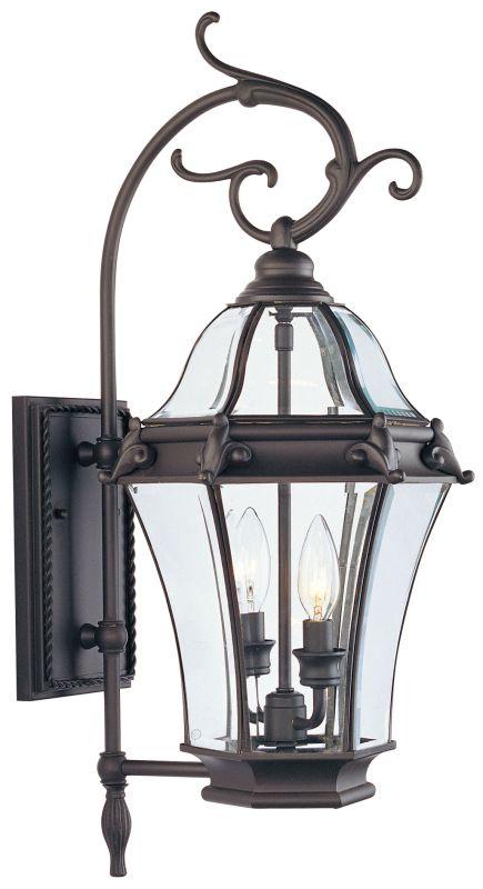 Livex Lighting 2621 Fleur de Lis 2 Light Outdoor Wall Sconce Bronze