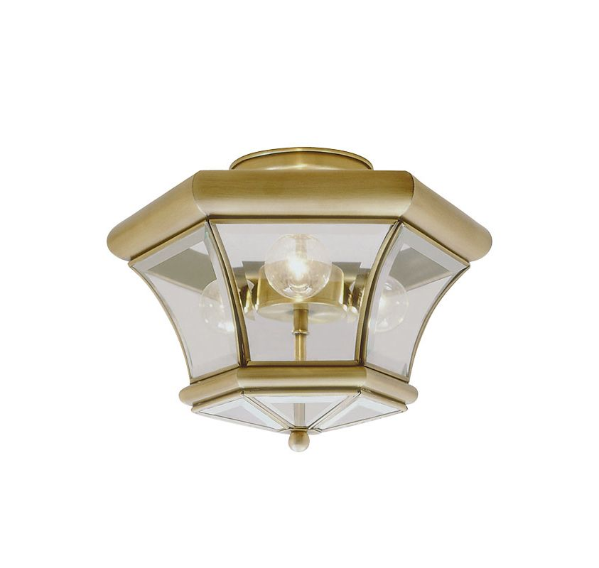 Livex Lighting 4083 Monterey 3 Light Semi-Flush Ceiling Fixture Sale $149.90 ITEM: bci1033858 ID#:4083-01 UPC: 847284014855 :