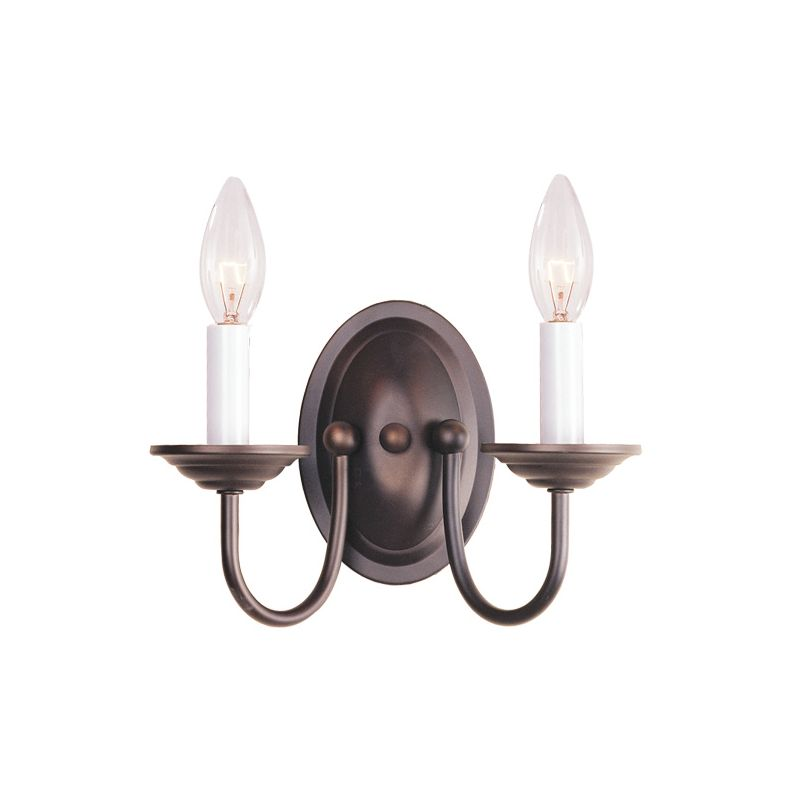Livex Lighting 4152 Coronado 2 Light Wall Sconce Bronze Indoor