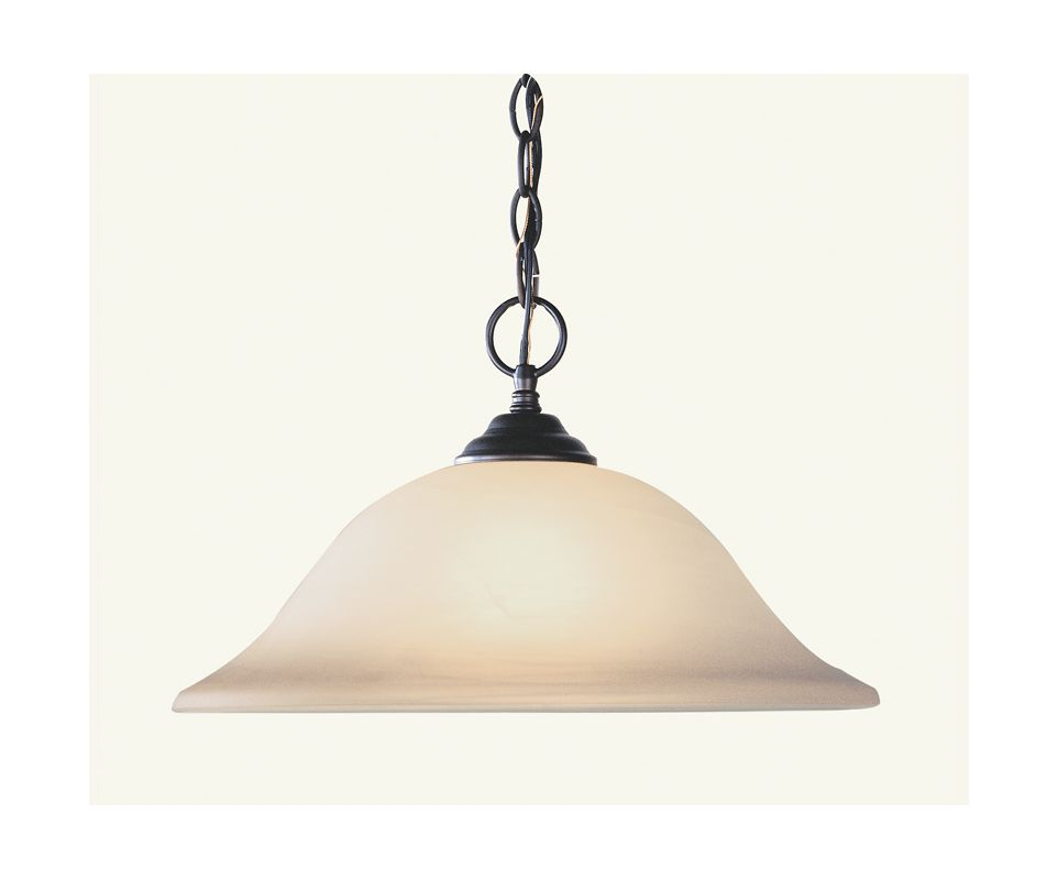 Livex Lighting 4161 Home Basics 1 Light Pendant Bronze Indoor Lighting