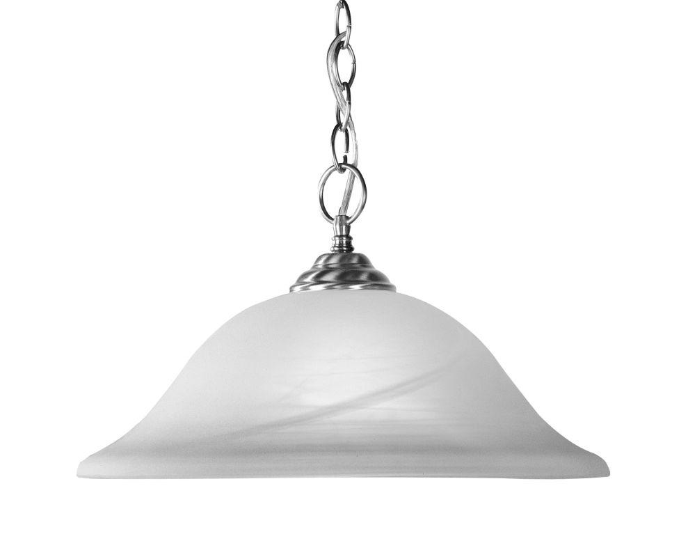 Livex Lighting 4161 Home Basics 1 Light Pendant Brushed Nickel Indoor