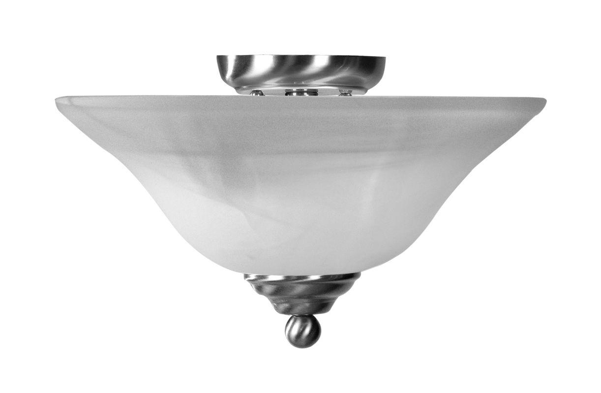 Livex Lighting 4164 Home Basics 2 Light Semi-Flush Ceiling Fixture