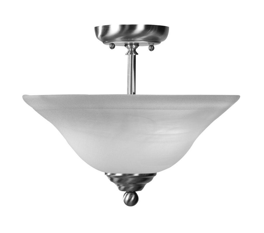 Livex Lighting 4167 Home Basics 2 Light Semi-Flush Ceiling Fixture
