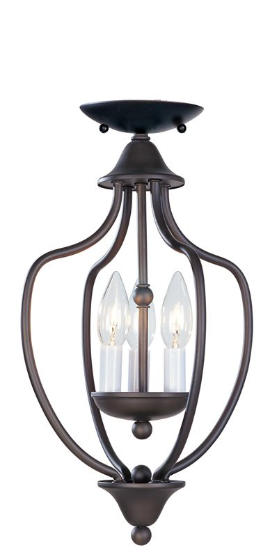 Livex Lighting 4170 Home Basics 3 Light Pendant Bronze Indoor Lighting