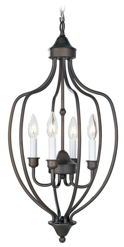 Livex Lighting 4171 Home Basics 4 Light Pendant Bronze Indoor Lighting