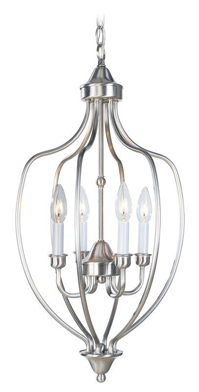 Livex Lighting 4171 Home Basics 4 Light Pendant Brushed Nickel Indoor