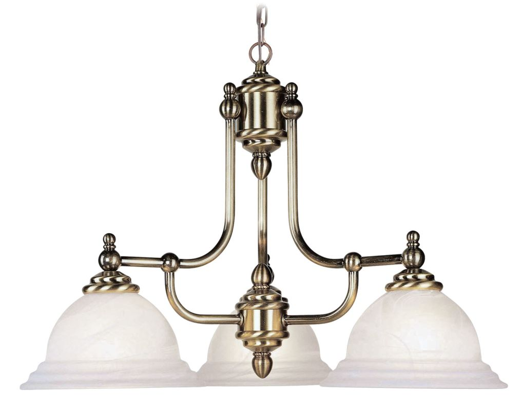 Livex Lighting 4253 North Port 3 Light 1 Tier Chandelier Antique Brass Sale $269.90 ITEM: bci1033939 ID#:4253-01 UPC: 847284001176 :
