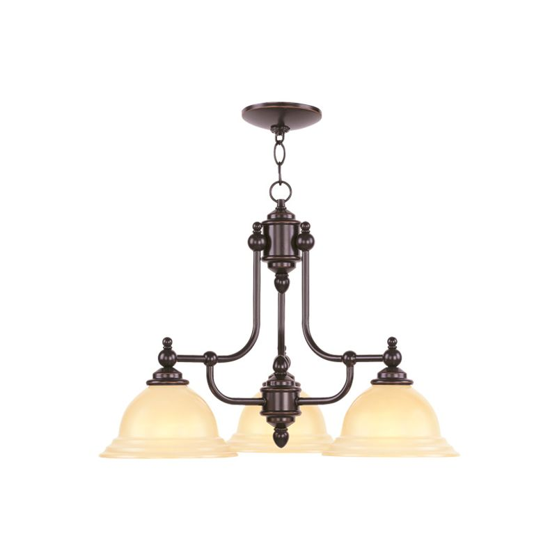Livex Lighting 4253 North Port 3 Light 1 Tier Chandelier Olde Bronze