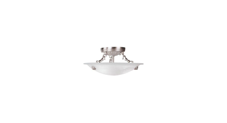 Livex Lighting 4272 Oasis 3 Light Semi-Flush Ceiling Fixture Brushed