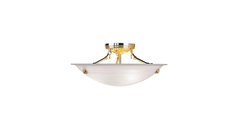 Livex Lighting 4273 Oasis 3 Light Semi-Flush Ceiling Fixture Polished Sale $98.91 ITEM: bci1033968 ID#:4273-02 UPC: 847284015715 :
