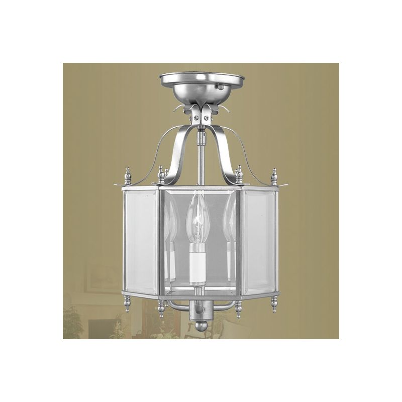 Livex Lighting 4403 Livingston 3 Light Semi-Flush Ceiling Fixture