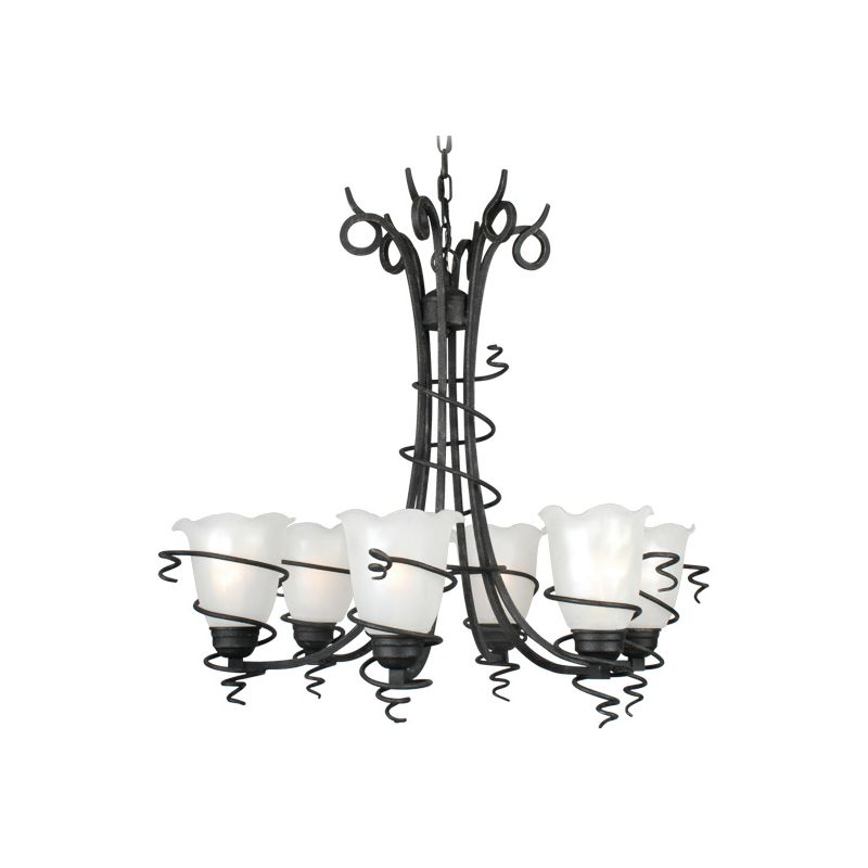 Livex Lighting 4446 Empire 6 Light 1 Tier Chandelier Distressed Iron