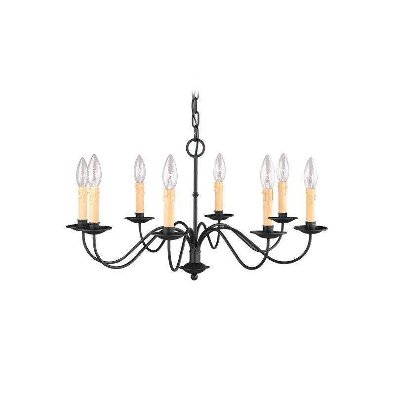Livex Lighting 4468 Heritage 8 Light 1 Tier Chandelier Black Indoor