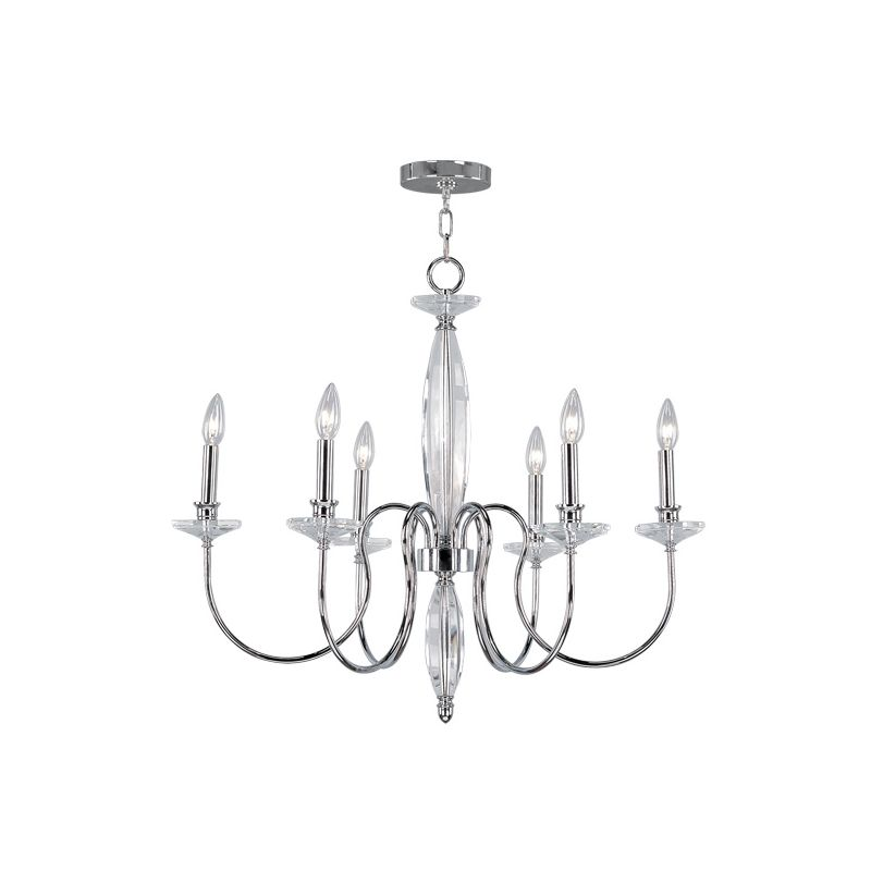 Livex Lighting 4706 Innsbruck 6 Light 1 Tier Chandelier Chrome Indoor