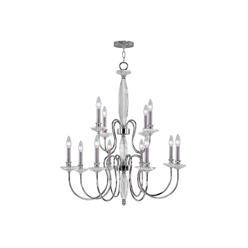 Livex Lighting 4709 Innsbruck 12 Light 2 Tier Chandelier Chrome Indoor